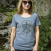 2012 Women's Tribal Turtle Blue T-shirt