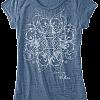 Women's Burnout Blue T-Shirt
