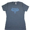 Women's Scroll Blue T-Shirt