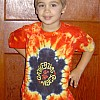Kid's Turtle Orange Tie Dye T-Shirt