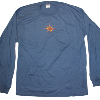 2005 Small Logo w/ Line Up Blue Long Sleeve