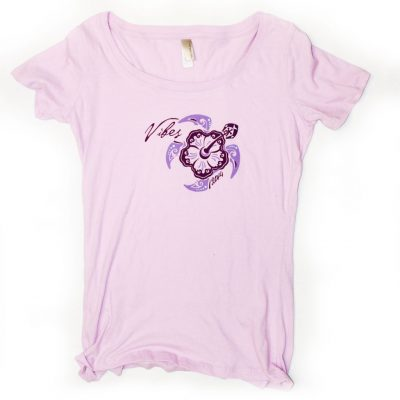 2014 Womens Lavender Turtle T-Shirt