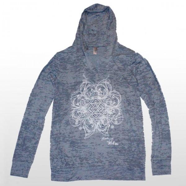 Women's Burnout Blue Hoodie - VNYS13HOLBLW