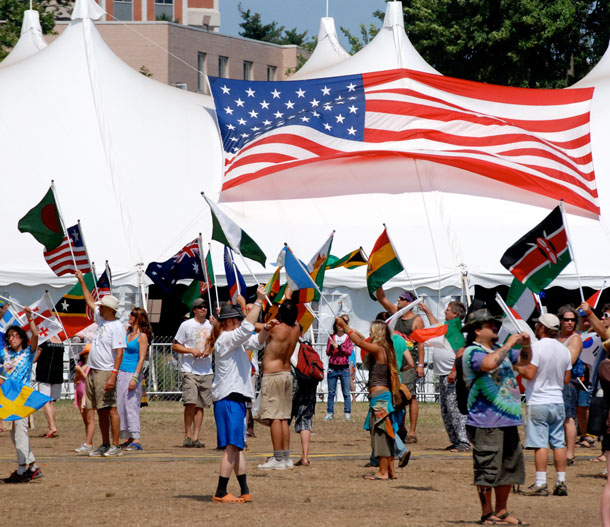 World Peace Flag Ceremony