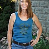 2012 Women's Tribal Turtle Teal Tank Top