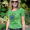 2012 Women's Tribal Turtle Green T-Shirt