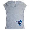 2012 Women's Swirl Light Blue V-Neck