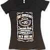 2015 Women's Black JD Tee