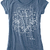 Women's Burnout Blue T-Shirt