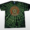 Men's Circle Eye Green Tie Dye T-Shirt