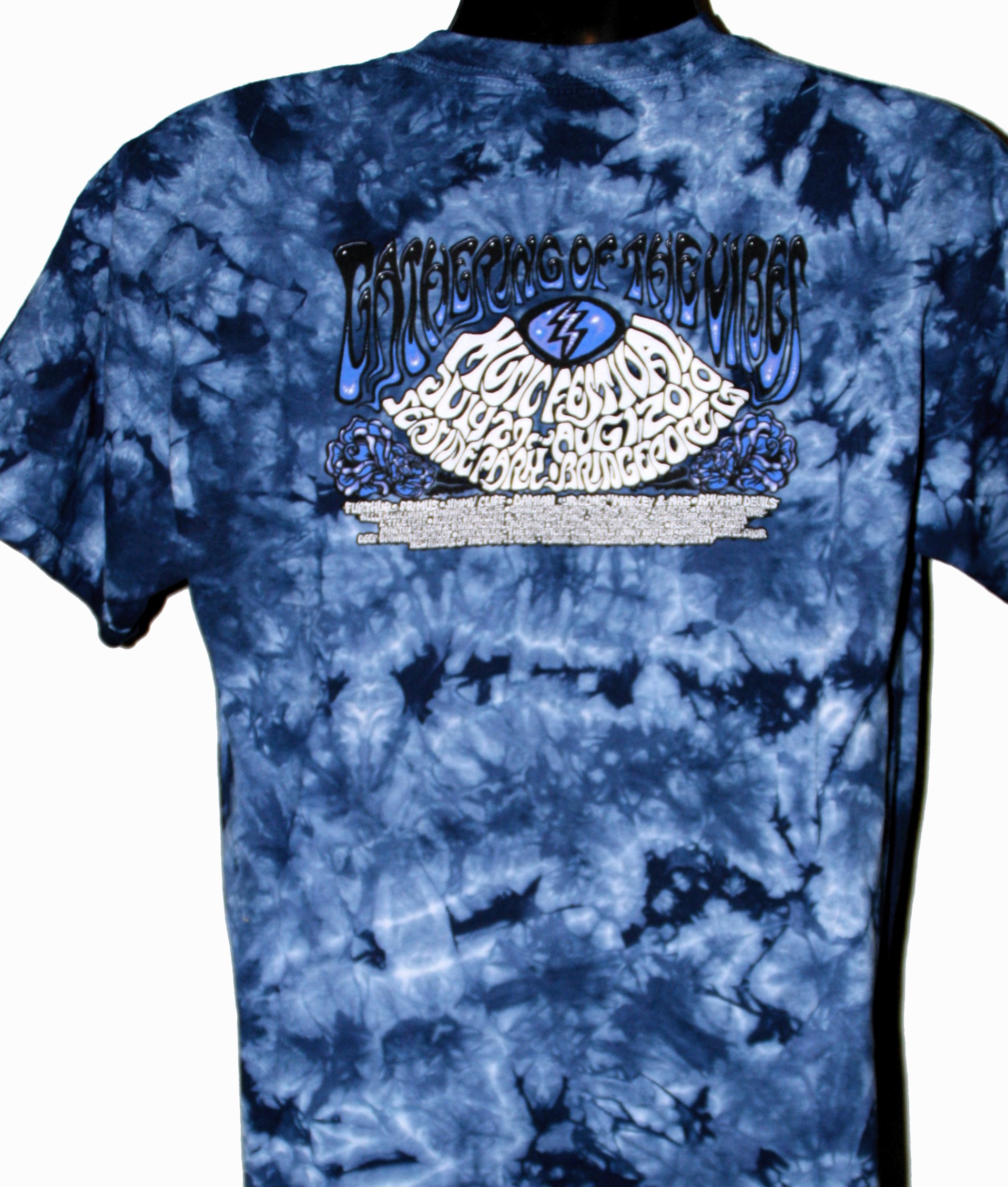 2010 wood turtle dark blue tie dye t shirt gathering of for Black and blue tie dye t shirts