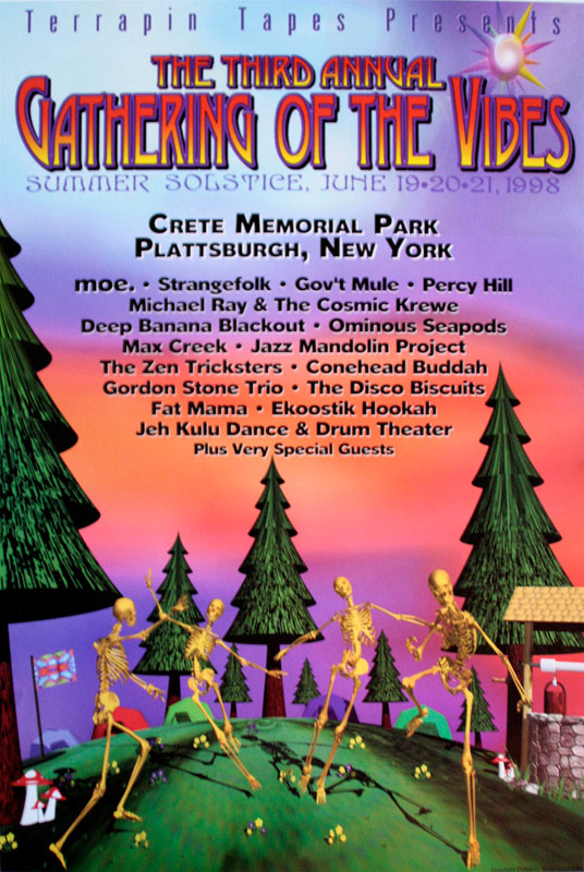 1998 Event Poster Gathering Of The Vibes Music Festival