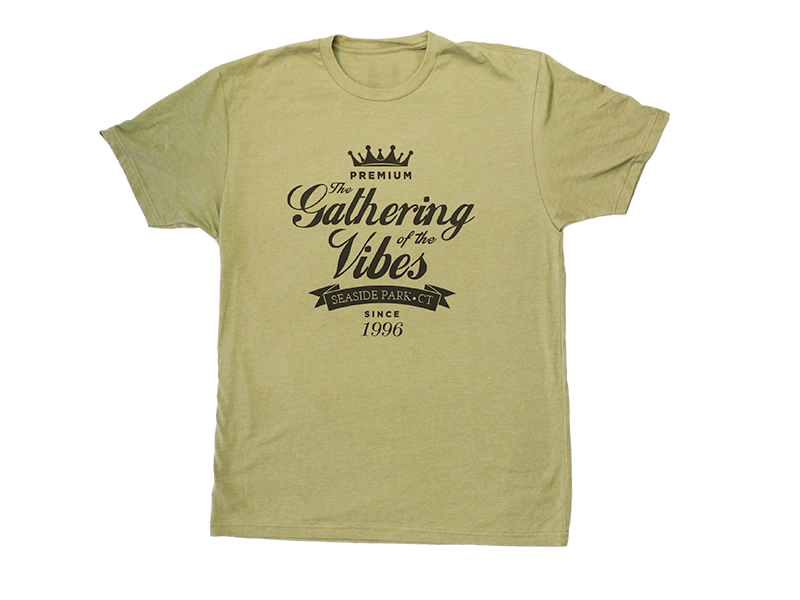 Vibes crown t shirt gathering of the vibes music festival for T shirt printing for non profit organizations